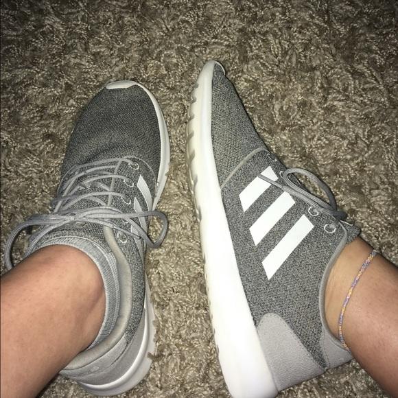 Grey Adidas Women's cloudfoam QT Racer Shoes
